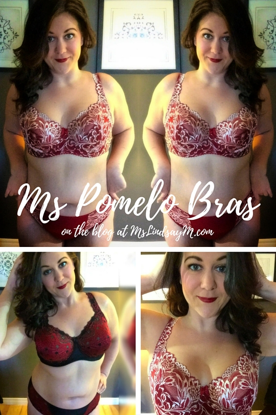 body positive activist and feminist, curvy lingerie influencer wearing Ms. Pomelo Bras