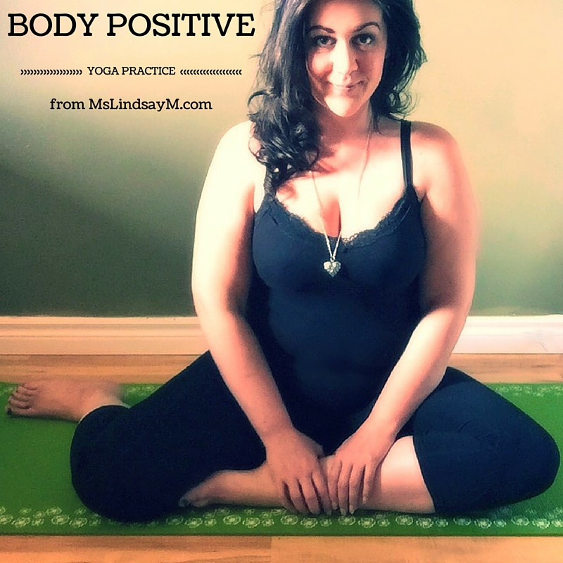 MsLindsayM, body positive blogger reviews GAIAM products and tells you how to make your yoga practice body positive.