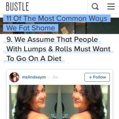 Bustle Article on Fat Shaming