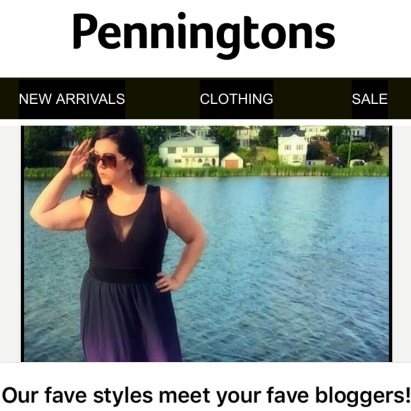 "Penningtons featured MsLindsayM in one of their ""Fave Styles"" newsletters in July 2016."