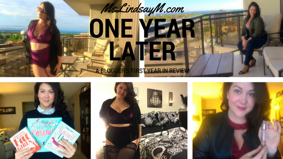 One year of blogging, a reflection from MsLindsayM, body positive blogger, fat activist and lingerie influencer.